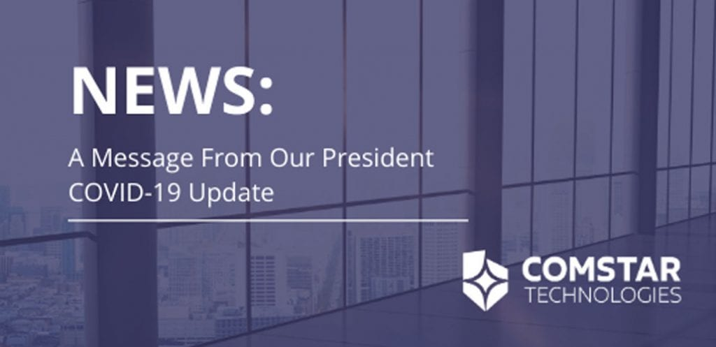 A Message from our President, Dave Johnson